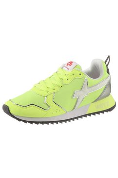 w6yz sneakers met sleehak groen