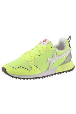 w6yz sneakers met sleehak in stijlvolle neon-look groen