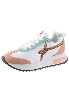 w6yz sneakers met sleehak multicolor