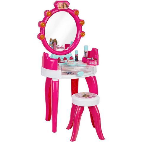 Klein make-uptafel Barbie Schönheitsstudio mit Zubehör met licht- en geluidsfunctie