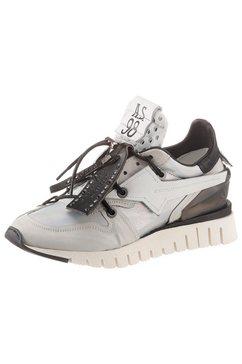 a.s.98 sneakers met sleehak wit