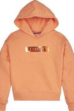 tommy hilfiger hoodie »tommy foil label hoodie« oranje