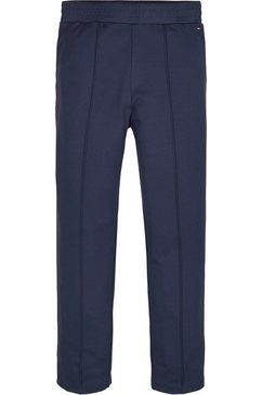 tommy hilfiger tricotbroek »tommy global stripe pant« blauw