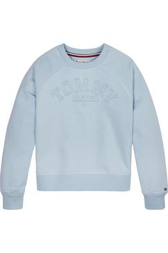tommy hilfiger sweatshirt »tonal embroidered graphic crew« blauw