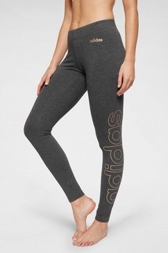adidas legging »essentials branded tight« grijs