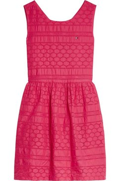 tommy hilfiger jurk in overgooiermodel »broderie anglaise dress« rood