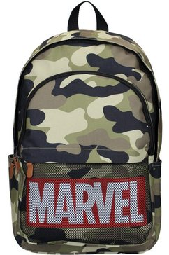 vadobag vrijetijdsrugzak »marvel, retro dedication army« groen