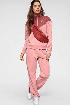nike sportswear trainingspak »w nsw trk suit pk« (2-delige set) oranje