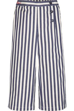 tommy hilfiger geweven broek »stripe wide leg pants« blauw