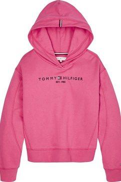 tommy hilfiger hoodie »essential hooded sweatshirt« roze