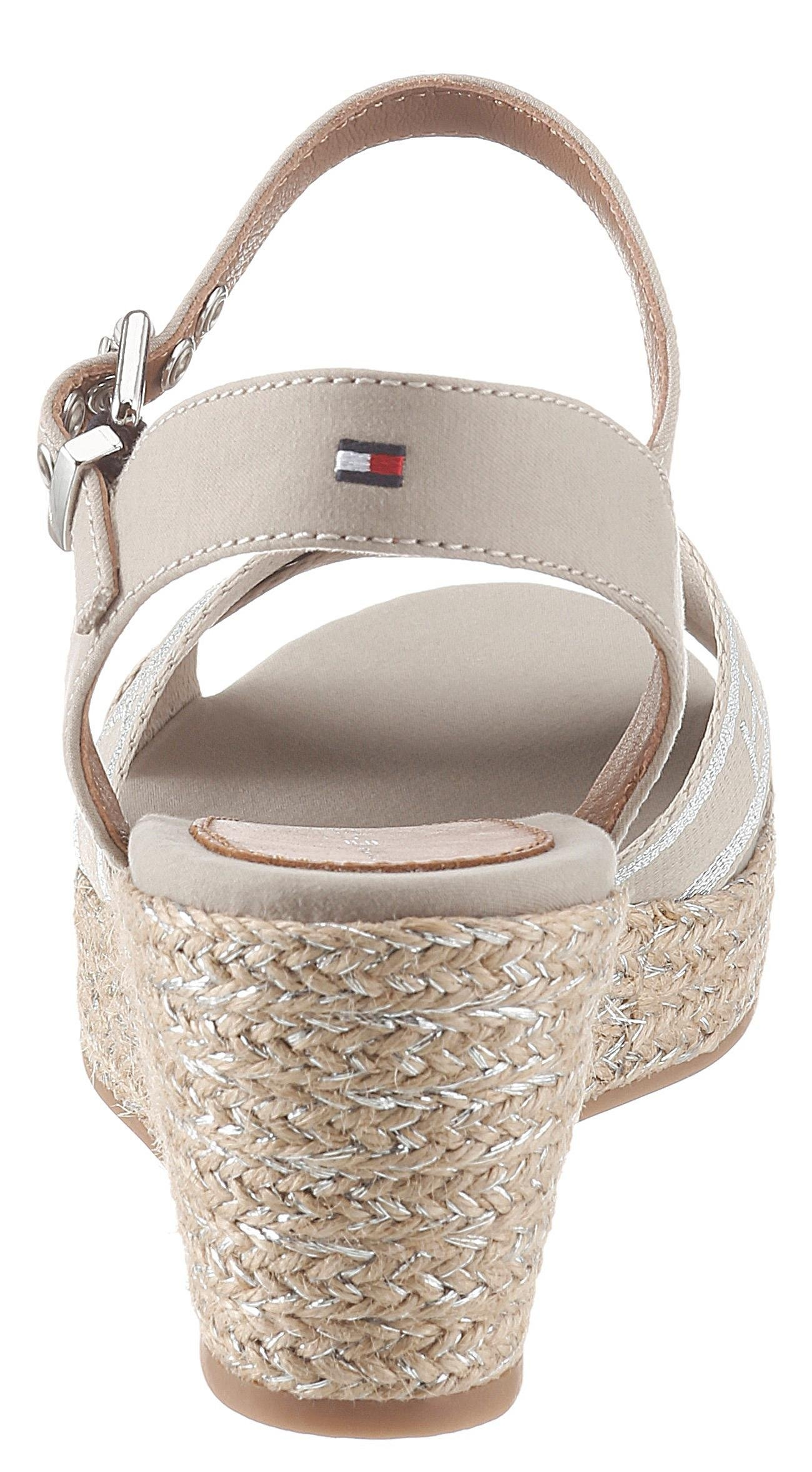 TOMMY HILFIGER sandaaltjes »TOMMY METALLIC MID WEDGE SANDAL« online kopen op otto.nl