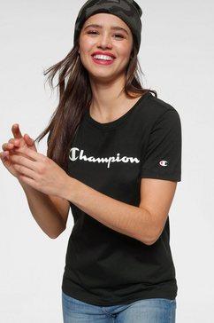champion t-shirt »t-shirt« zwart