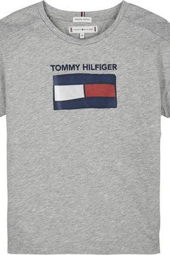 tommy hilfiger t-shirt »fun graphic flag« grijs
