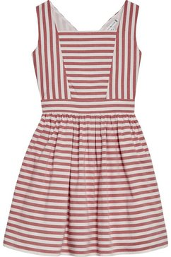 tommy hilfiger jurk in overgooiermodel »iconic stripe dress« rood