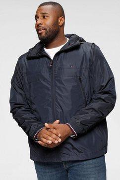 tommy hilfiger windbreaker »big  tall light weight hooded jacket« blauw