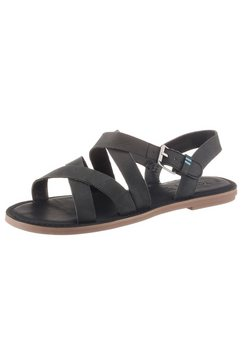 toms sandalen »sicily« zwart