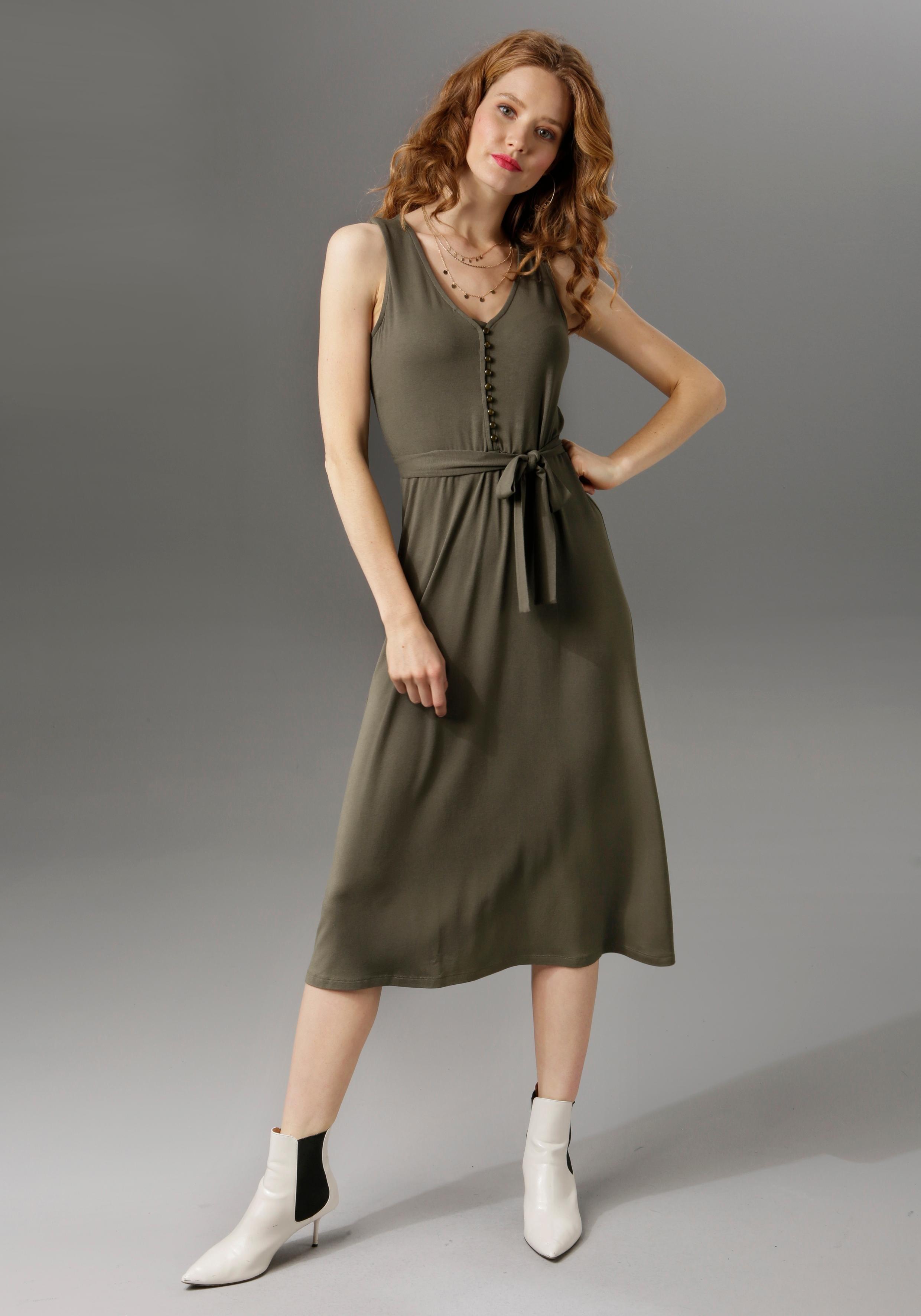 Aniston Casual ANISTON Maxi-jurk met brede bandjes voordelig en veilig online kopen