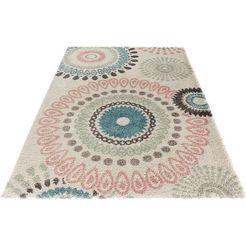 hoogpolig vloerkleed, mint rugs, »globe«, hoogte 35 mm, geweven beige