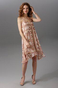 aniston maxi-jurk met brede bandjes beige
