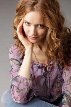 aniston by baur blouse met carmenhals paars