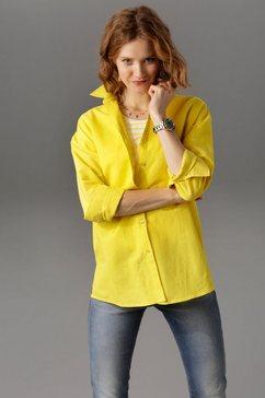 aniston casual overhemdblouse geel