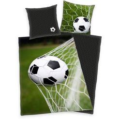 herding tweezijdig te gebruiken overtrekset »fussball«, herding groen