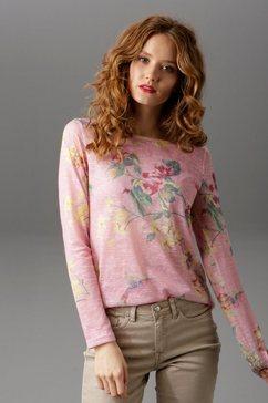 aniston casual shirt met lange mouwen roze