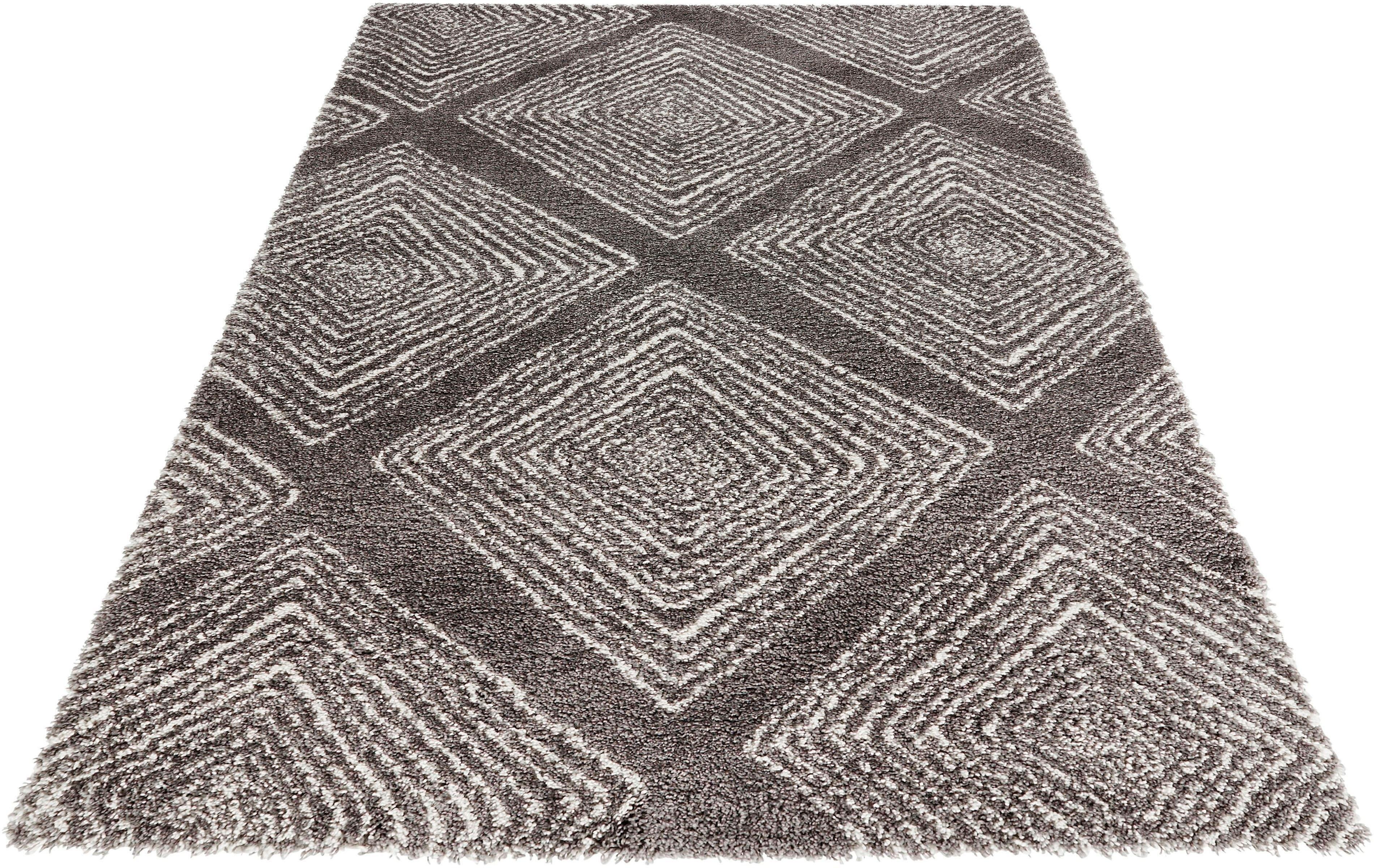 MINT RUGS Hoogpolig vloerkleed, »Wire«, hoogte 35 mm, geweven nu online bestellen
