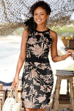lascana gedessineerde jurk zwart