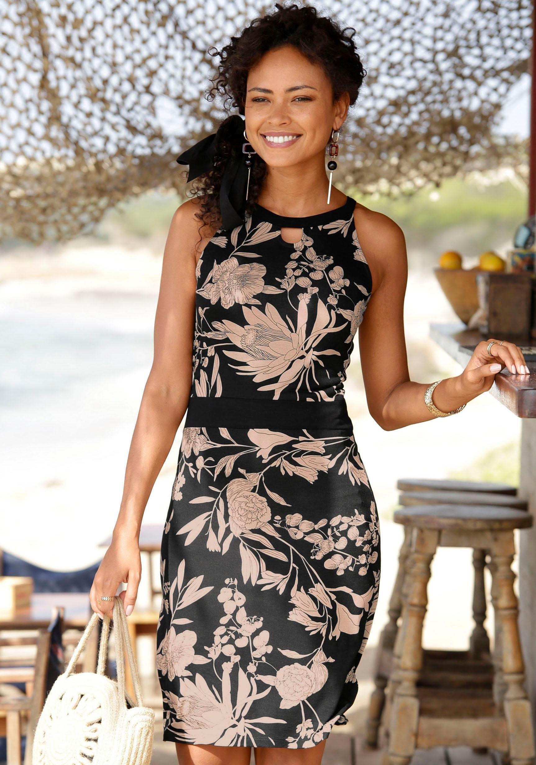 LASCANA gedessineerde jurk nu online kopen bij OTTO
