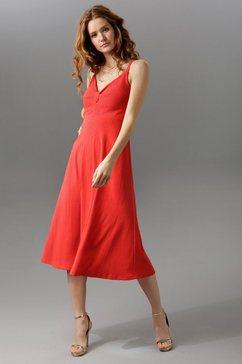 aniston maxi-jurk met brede bandjes rood