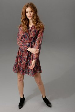aniston casual party-jurk rood