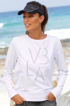 venice beach sweatshirt met brede boord wit