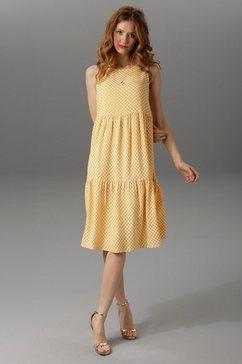aniston maxi-jurk met brede bandjes geel