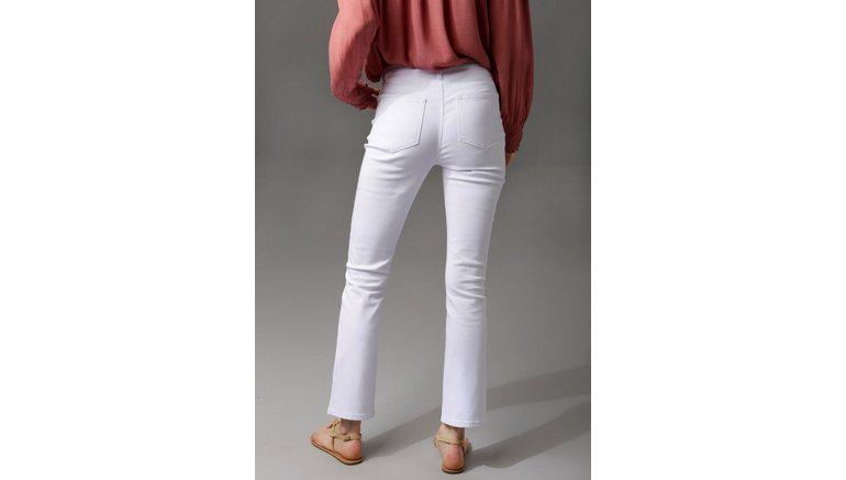 Aniston CASUAL bootcut jeans enkelvrije lengte