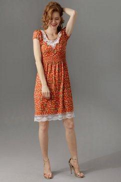aniston maxi-jurk met brede bandjes oranje