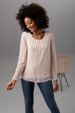 aniston selected chiffonblouse roze