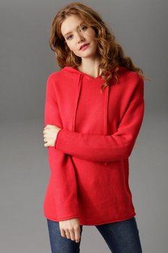 aniston casual trui met ronde hals rood
