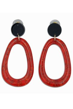j.jayz oorstekers »oval, gelbgoldfarben vergoldet« rood