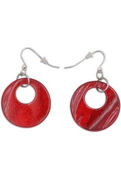 j.jayz oorhangers »bewegliche kreise mit cut-outs« rood