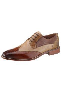 melvin  hamilton schoenen met budapest-perforatie »jeff 14« bruin