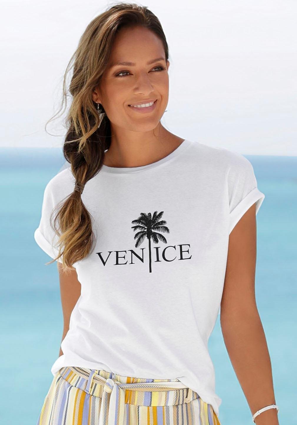 Venice Beach shirt met ronde hals met frontprint goedkoop op otto.nl kopen