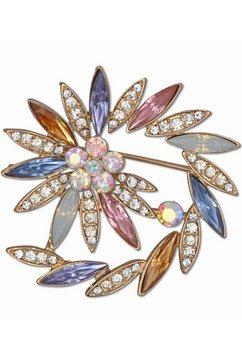 j.jayz broche »spiralfoermige optik, steine in mandelform« multicolor