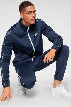 nike sportswear joggingpak »m nsw ce trk suit pk basic« (2-delige set) blauw