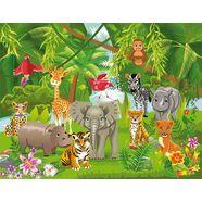 bmd fotobehang »kids jungle animals« multicolor