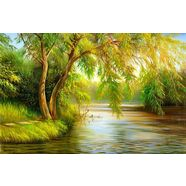 bmd fotobehang »summer wood lake« multicolor