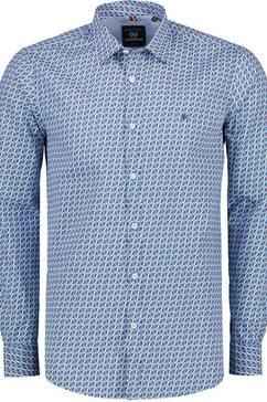 lerros overhemd met lange mouwen blauw