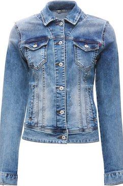 ltb jeansjack dean x in trendy wassingen blauw