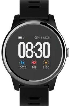 swisstone »sw 660 ecg« smartwatch zwart