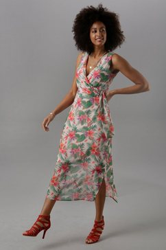 vivance maxi-jurk roze
